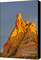 Valley Of Fire Canvas Prints - Vibrant Valley of Fire Canvas Print by Christine Till