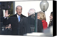 Bswh052011 Canvas Prints - Vice President Joe Biden Takes The Oath Canvas Print by Everett