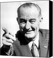 Lyndon Canvas Prints - Vice President Lyndon B. Johnson Canvas Print by Everett