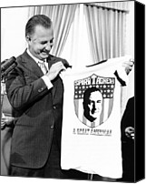 Agnew Canvas Prints - Vice President Spiro Agnew Admires Canvas Print by Everett