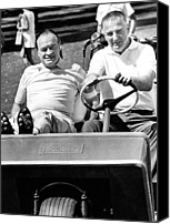 Cart Driving Canvas Prints - Vice President Spiro Agnew And Comedian Canvas Print by Everett