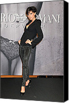 Herald Canvas Prints - Victoria Beckham Wearing An Emporio Canvas Print by Everett