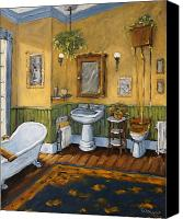 Prankearts Canvas Prints - Victorian Bathroom by Prankearts Canvas Print by Richard T Pranke