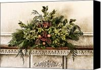 Postcard Photo Canvas Prints - Victorian Christmas Canvas Print by Olivier Le Queinec