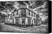Pub Canvas Prints - Victorian Pub Canvas Print by Adrian Evans