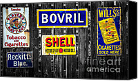 Old Digital Art Canvas Prints - Victorian Signs Canvas Print by Adrian Evans