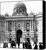 Crowd Scene Canvas Prints - Vienna Austria - Imperial Palace - c 1902 Canvas Print by International  Images