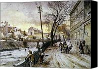 Viennese Canvas Prints - Vienna: Winter Scene, 1888 Canvas Print by Granger
