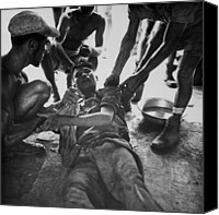 Foreign Wars Canvas Prints - Vietminh Pow. A Wounded Vietminh Canvas Print by Everett