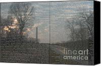 Veterans Memorial Canvas Prints - Vietnam Veterans Memorial  Canvas Print by Clarence Holmes