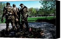 Veterans Memorial Canvas Prints - Vietnam Veterans Memorial Memorial Day Canvas Print by Thomas R Fletcher