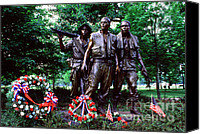 Veterans Memorial Canvas Prints - Vietnam Veterans Memorial  Canvas Print by Thomas R Fletcher