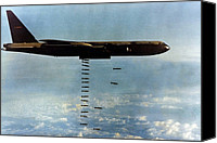 Foreign Wars Canvas Prints - Vietnam War. A B-52 Drops Christmas Canvas Print by Everett