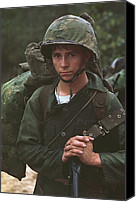 Foreign Wars Canvas Prints - Vietnam War. Da Nang, Vietnam. A Young Canvas Print by Everett