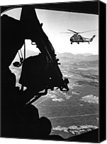 Foreign Wars Canvas Prints - Vietnam War. Us Army Helicopter Canvas Print by Everett