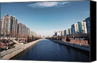 Infinity Canvas Prints - View Down Canal Canvas Print by Andy Brandl