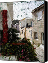 Greece Canvas Prints - View from kitchen window --46 Canvas Print by James Stanfield