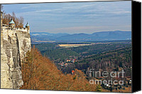 Rock Canvas Prints - View from Koenigstein Fortress Germany Canvas Print by Christine Till