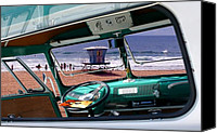 Surfers Canvas Prints - View from the Bus Canvas Print by Ron Regalado