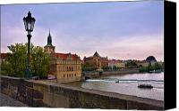 Vltava Canvas Prints - View from the Charles Bridge Revisited Canvas Print by Madeline Ellis