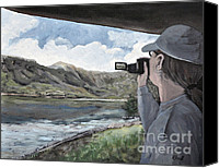 Summer Scenes Canvas Prints - View From the Lookout Canvas Print by Reb Frost