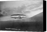 Bi Planes Canvas Prints - View Of An Early Airplane In Flight Canvas Print by Bell Family