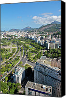 Road Travel Canvas Prints - View Of Aterro Do Flamengo Canvas Print by Ruy Barbosa Pinto