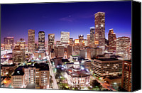Gulf Canvas Prints - View Of Cityscape Canvas Print by jld3 Photography