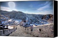 Brick Canvas Prints - View Of Great Wall Canvas Print by Photograph by Sunny Ip.