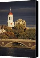 Harvard Canvas Prints - View Of Harvard University Canvas Print by Tim Laman