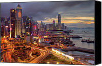 Hong Kong Photo Canvas Prints - View Of Hong Kong Canvas Print by Marty Windle