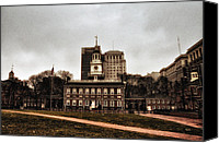 Independence Hall Canvas Prints - View of Independence Hall in Philadelphia Canvas Print by Bill Cannon
