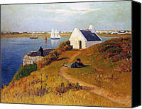 Breton Canvas Prints - View of Lorient in Brittany Canvas Print by Henry Moret