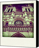 Ile De France Canvas Prints - View of ND de Paris on river Seine. Paris Canvas Print by Bernard Jaubert