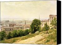 Hill Town Canvas Prints - View of Paris Canvas Print by Stanislas Victor Edouard Lepine