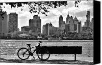 Philadelphia Canvas Prints - View of Philadelphia  Canvas Print by Andrew Dinh