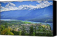British Columbia Canvas Prints - View of Revelstoke in British Columbia Canvas Print by Elena Elisseeva