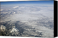 Southern Rocky Mountains Canvas Prints - View Of Rocky Mountains Covered In Snow Canvas Print by Rich Reid
