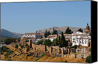 Ronda Canvas Prints - View of Ronda. Andalusia. Spain Canvas Print by Jenny Rainbow