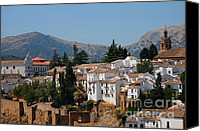 Ronda Canvas Prints - View of Ronda I. Andalusia. Spain Canvas Print by Jenny Rainbow
