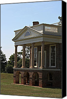 Octagonal Canvas Prints - View of South Portico at Poplar Forest Canvas Print by Teresa Mucha
