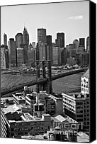 New York City Photo Canvas Prints - View of the Brooklyn Bridge Canvas Print by Madeline Ellis