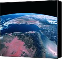 Astronomy Canvas Prints - View Of The Earth From Space Canvas Print by Stockbyte
