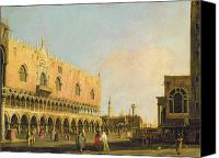 Library Painting Canvas Prints - View of the Piazzetta San Marco Looking South Canvas Print by Canaletto