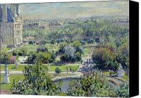 Parks Canvas Prints - View of the Tuileries Gardens Canvas Print by Claude Monet
