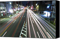 Road Travel Canvas Prints - View Of Traffic At Nihonbashi, Tokyo, Japan Canvas Print by Billy Jackson Photography