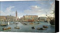 Gondoliers Canvas Prints - View of Venice from the Island of San Giorgio Canvas Print by Gaspar van Wittel
