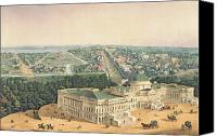 Hill Town Canvas Prints - View of Washington DC Canvas Print by Edward Sachse