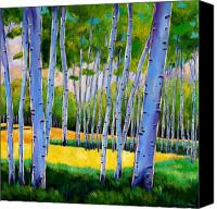 Leaves Painting Canvas Prints - View Through Aspen Canvas Print by Johnathan Harris
