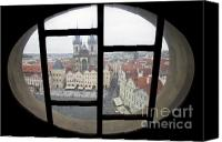 Charles Bridge Canvas Prints - View to Prague Old Town Square Canvas Print by Andre Goncalves